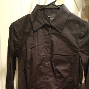 Victoria's Secret Black Dress Shirt